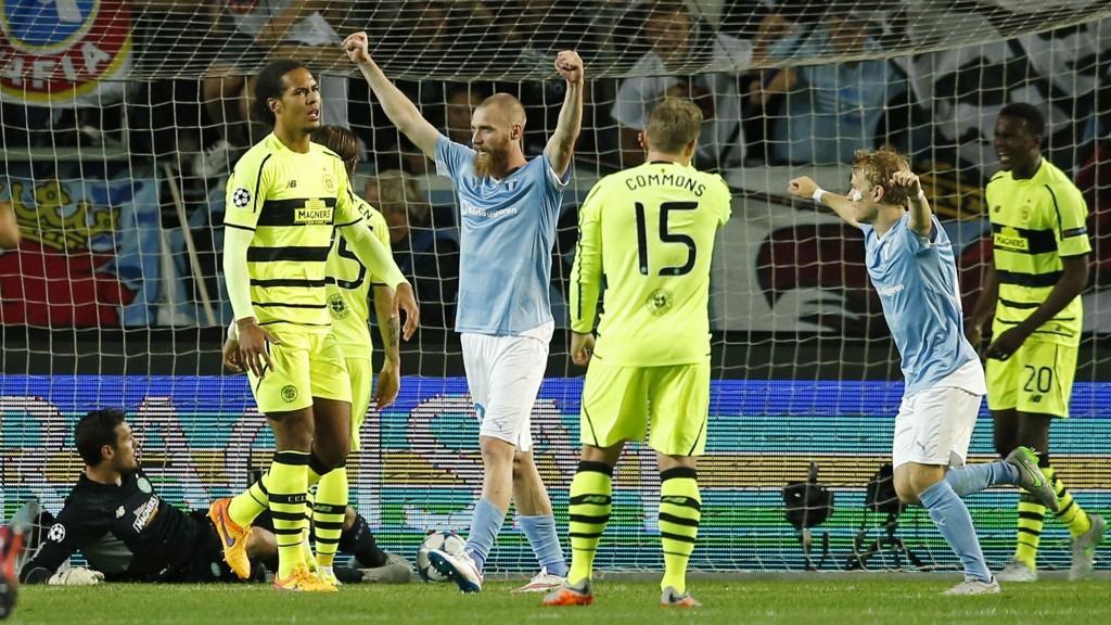 JUBLET: Jo Inge Berget kunne juble for avansement til gruppespillet i Champions League på bekostning av Celtic.