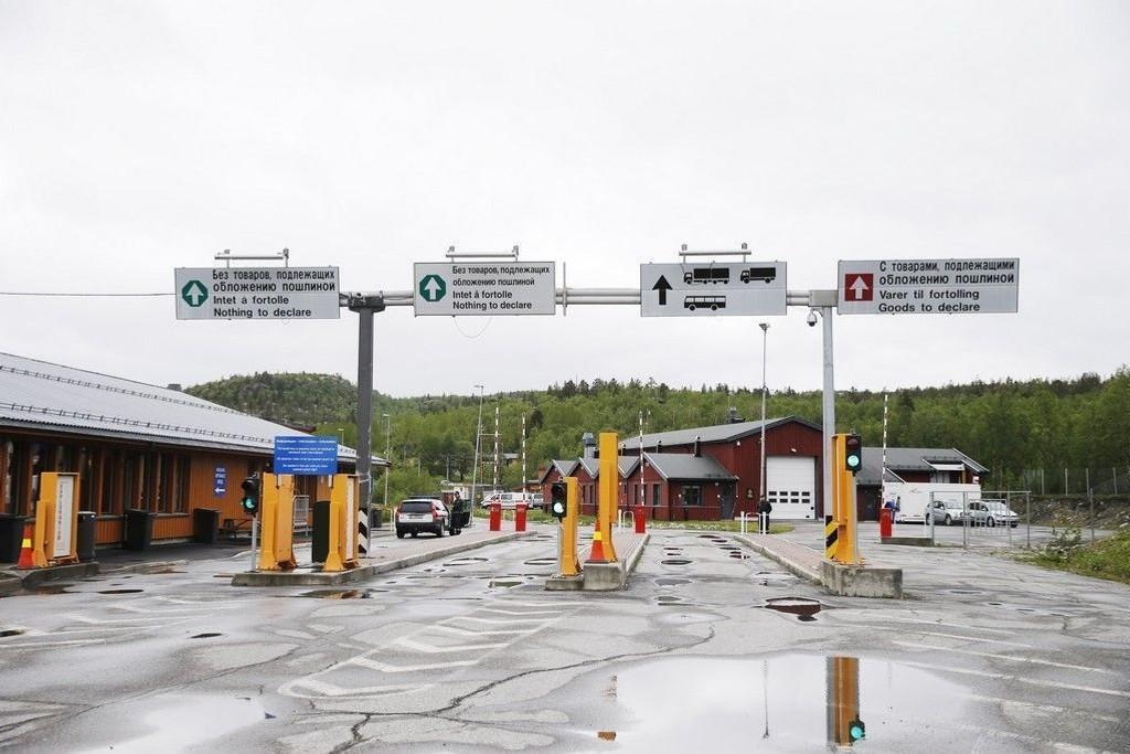 Grensestasjonen Storskog Boris-Gleb på grensen mellom Norge og Russland. Her avbildet i juni 2014.