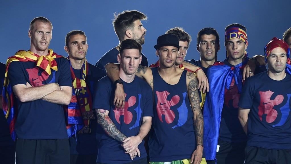 Barcelona etter å ha vunnet Champions League- FOTO: NTB scanpix
