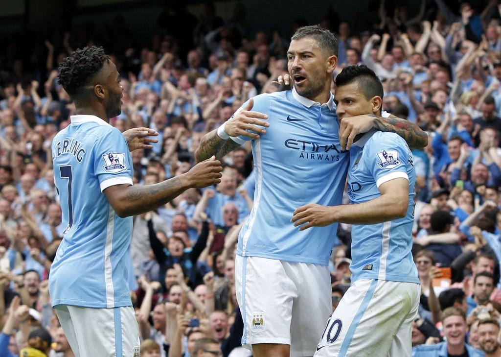 DRØMMELAG: Manchester City kan plukke fra øverste hylle - og har satt sammen et drømmelag. Her ved Sterling, Kolarov og Agüero.