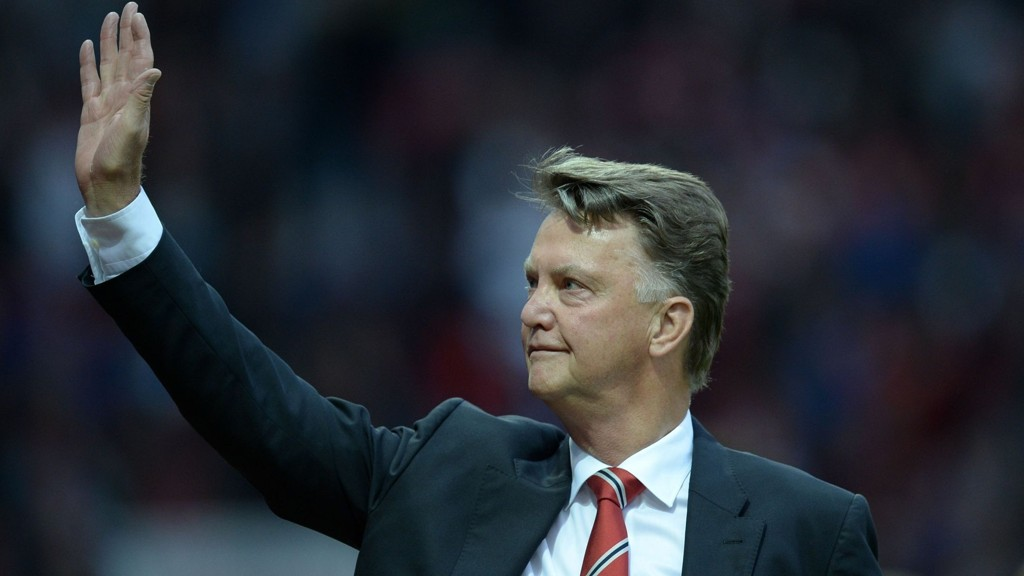 Louis van Gaal og hans Manchester United skal være favoritt hjemme mot Liverpool i lørdagens storkamp. FOTO: NTB scanpix
