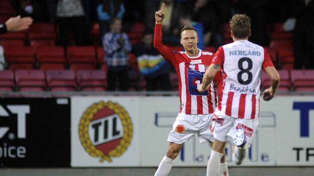 Magnus Andersen jubler etter sin 1-0 scoring mot Rosenborg i forrige hjemmekamp.