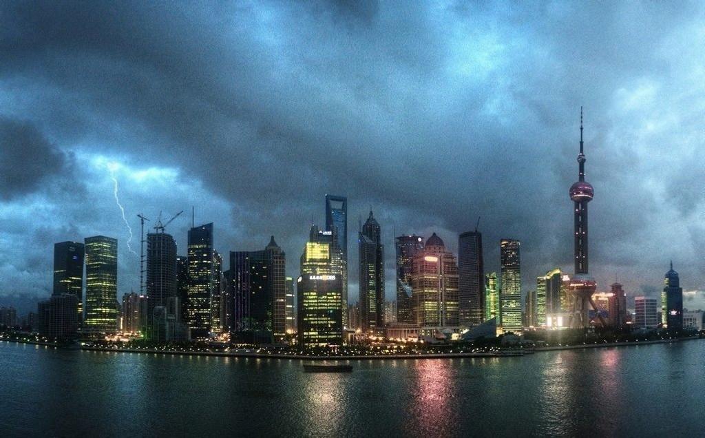 Shanghais skyline.