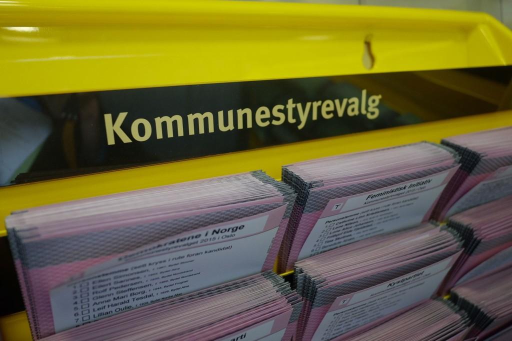 11.350 FOLKEVALGTE: Totalt skal det velges 10.632 personer til landets kommunestyrer og 718 personer til landets fylkesting,