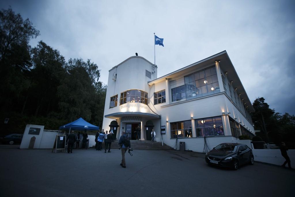 Oslo Høyre holder valgvake på Ekebergrestauranten.