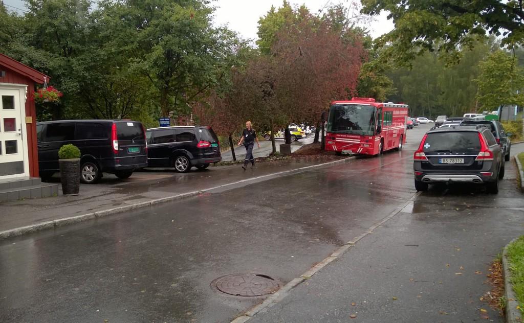 Politiet assistert av blant andre Norske Redningshunder gjennomførte torsdag søk ved Hauketo, etter en mann som onsdag kveld skal ha blitt utsatt for grov vold og deretter kjørt bort i en bil.