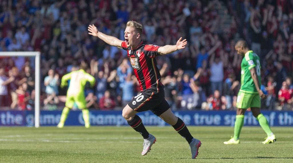 PERLE: Matt Ritchie scoret et nydelig mål mot Sunderland.