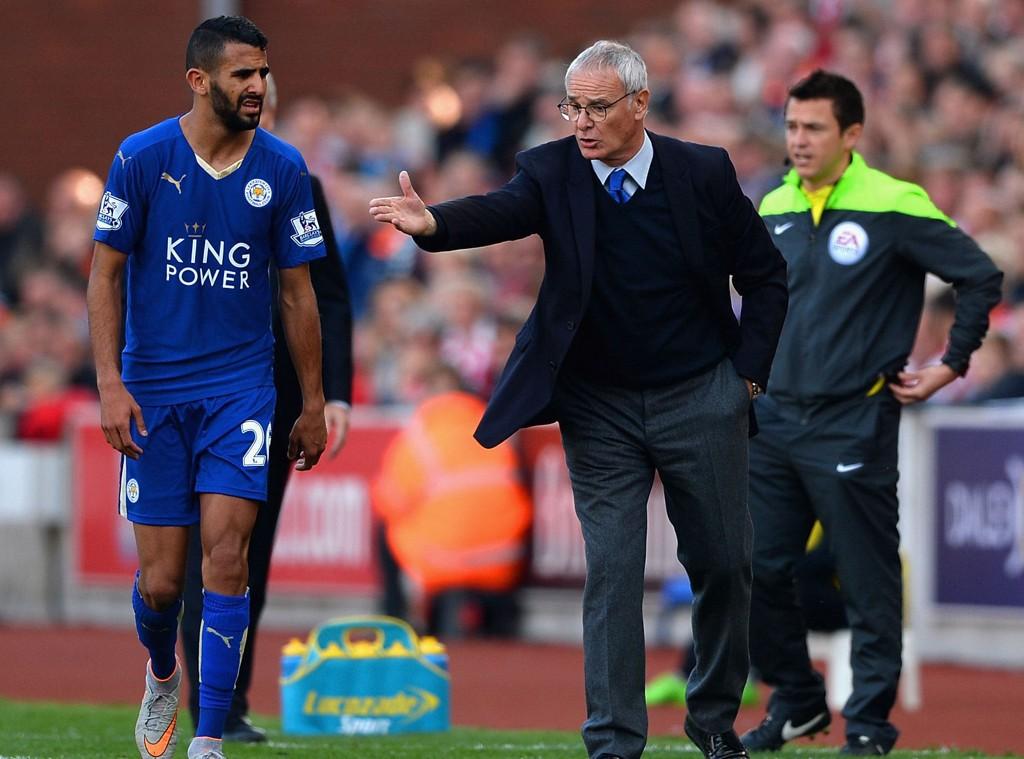 SENTRAL IGJEN: Riyad Mahrez har ledet angrepsrekka til Leicester med bravur så langt, og bidro med både mål og assist mot Stoke.