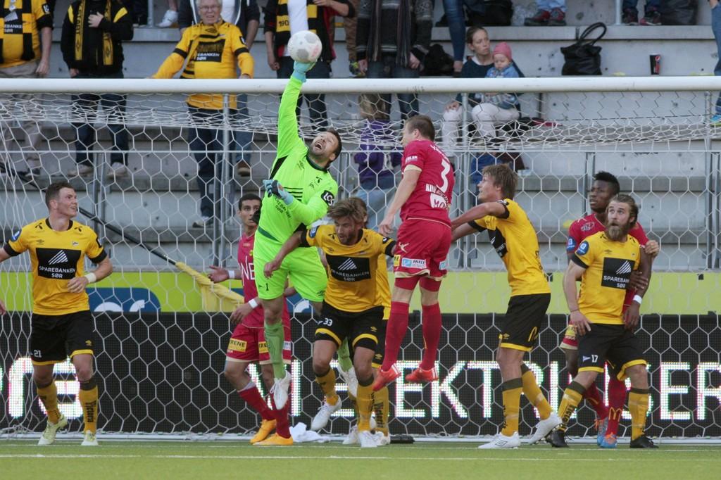 SJELDEN VARE: Håkon Opdal spilte en stor kamp mot Lillestrøm og var hovedgrunnen til at Start holdt nullen på hjemmebane for første gang siden 2013.