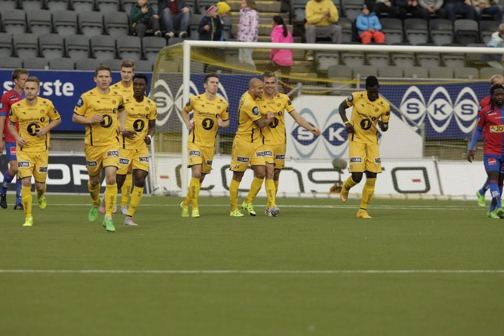 MER JUBEL: Bodø/Glimt tok en ny seier da Sandefjord kom på besøk søndag.