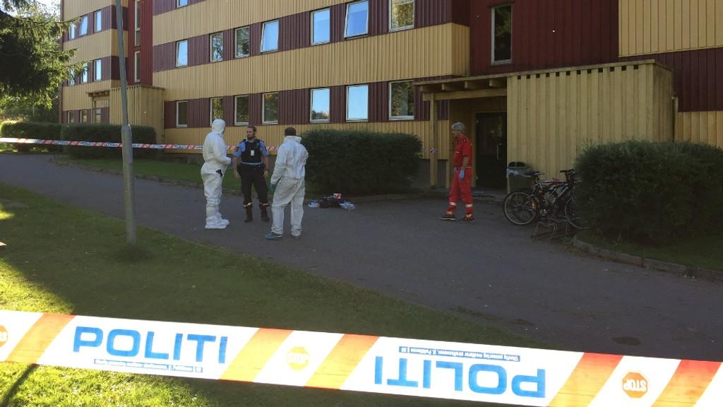 Én DREPT: Én person ble drept, og en politimann alvorlig skadet, da det oppsto skuddveksling mellom en person og politiet på Ottestad i Stange lørdag ettermiddag.