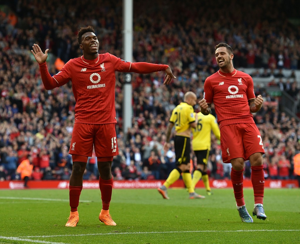 SCORET TO: Liverpool-spiss Daniel Sturridge.