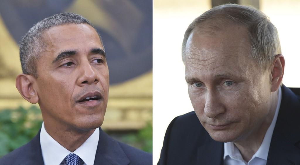 TOPPMØTE: USAs president Barack Obama og Russlands president Vladimir Putin møtes i New York.