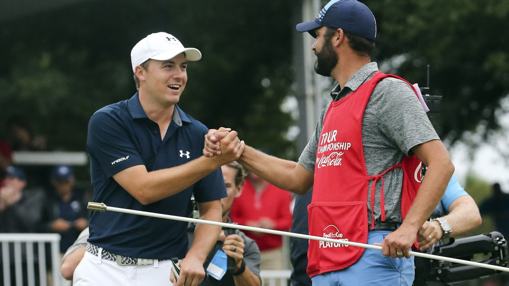 KURANT GOLFER: Jordan Spieth har gjort et brukbart år på golfbanen.