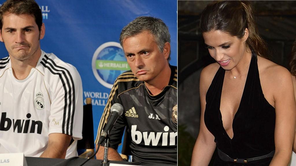 FIENDER? Jose Mourinho skal ha mistenkt at Iker Casillas avslørte hemmeligheter overfor journalistkjæreste Sara Carbonero.
