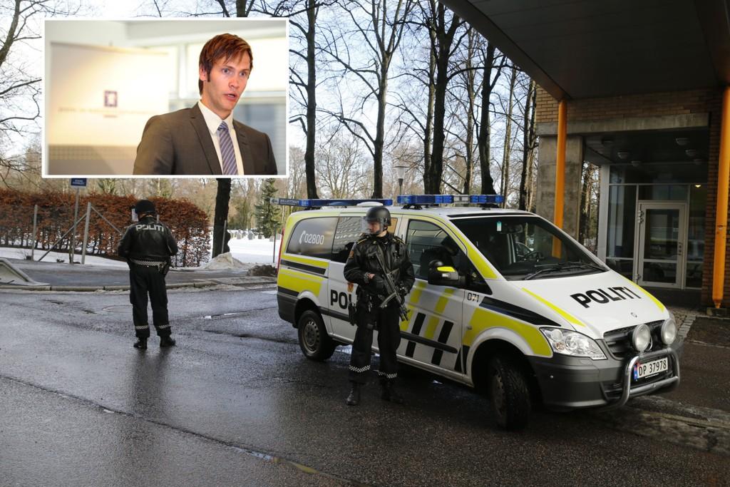 Politidirektoratet har varslet flere krav og strammere budsjetter for politi-Norge i 2016, men statssekretær i Justisdepartementet Vidar Brein-Karlsen (innfelt) mener det ikke er grunn til bekymring.