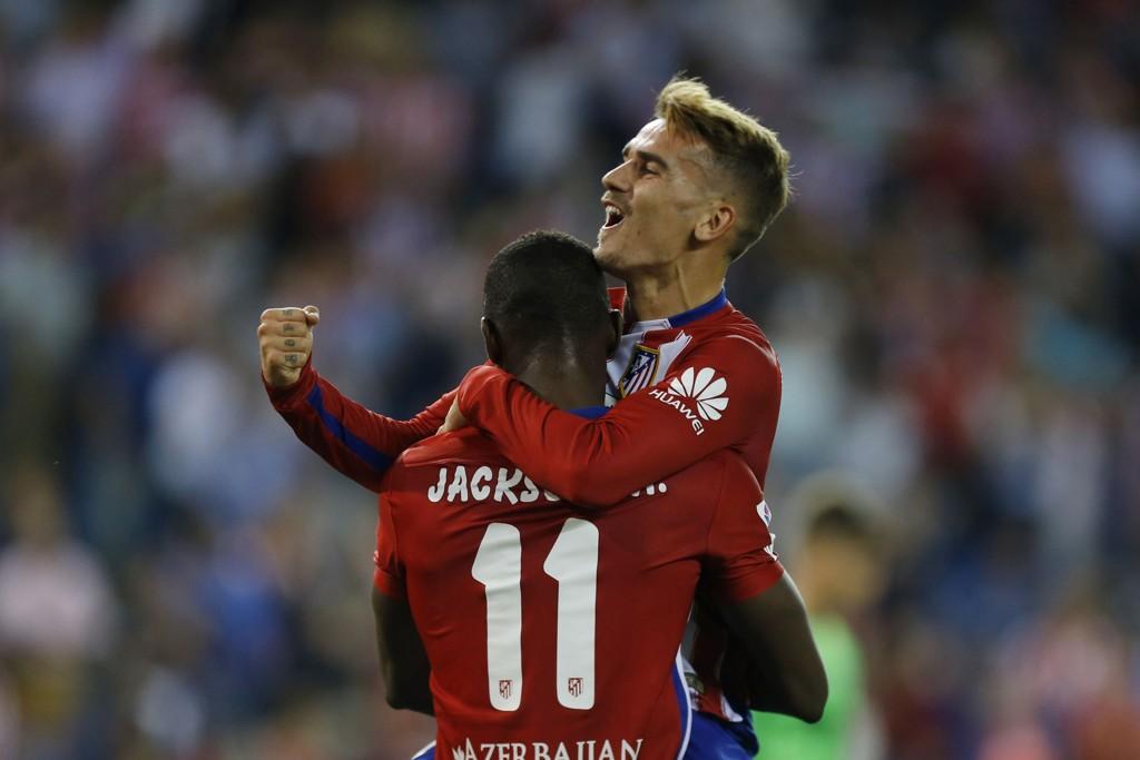MÅLGUTTA: Antoine Griezmann og Jackson Martinez har fått en bra sesongstart med Atletico.