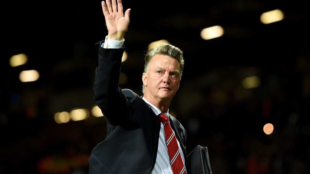 Manchester United-manager Louis van Gaal var ikke fornøyd.