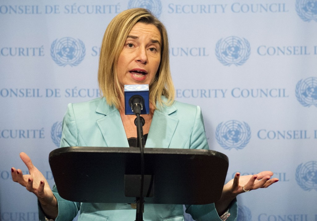 EUs utenrikssjef Federica Mogherini sier at den såkalte Midtøstenkvartetten ønsker å få i gang fredssamtalene mellom Israel og Palestina igjen.