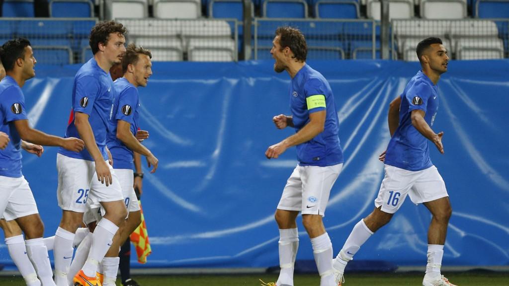 GOD KAMP: Molde-spillerne leverte en god kamp da de spilte 1-1 mot Ajax torsdag kveld.