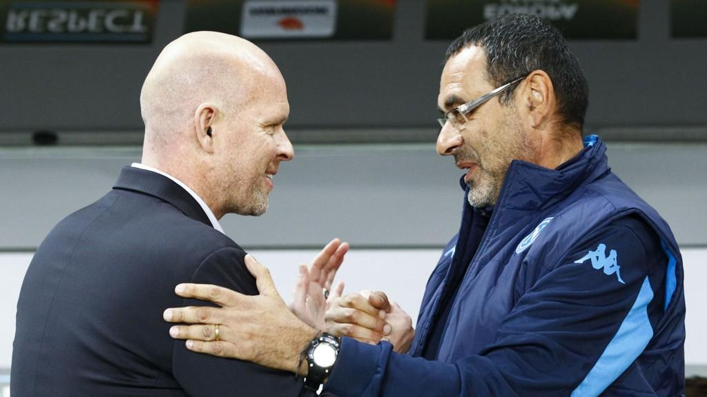 TAP: Henning Berg og Legia tapte mot Napoli.