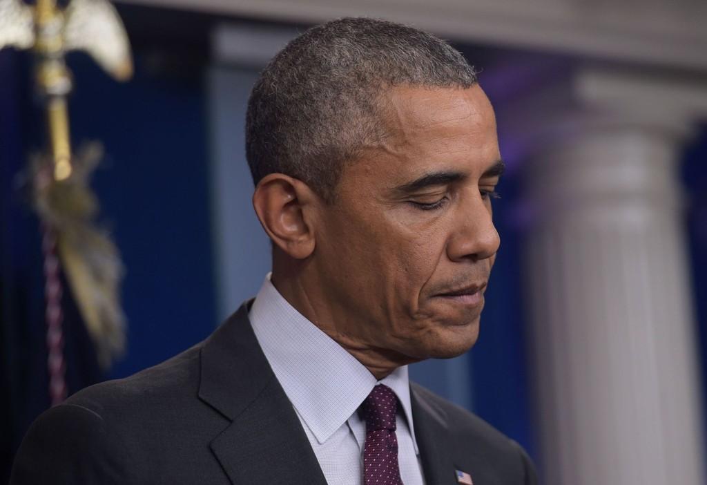 PRESIDENT Barack Obama holdt en følelsesladd tale fra Det hvite hus natt til fredag.