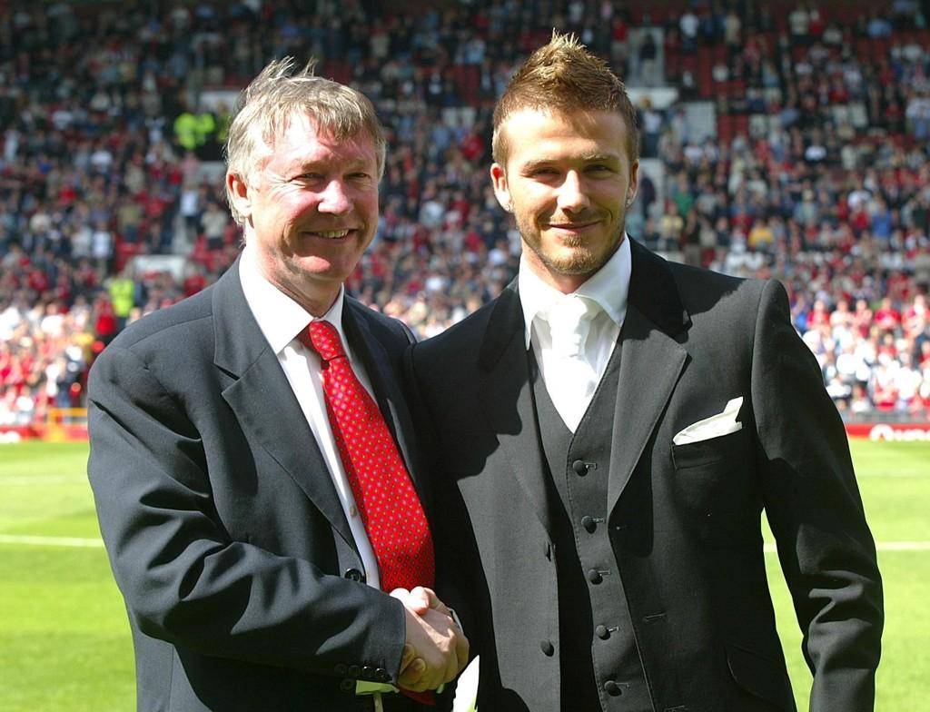 TEAMER OPP: Sir Alex Ferguson og David Beckham blir å se på samme lag i en veldedighetskamp neste måned.