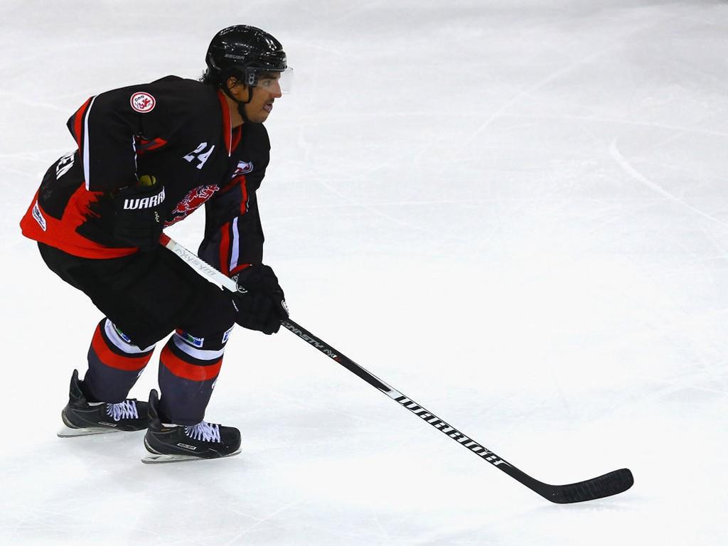 FRISK START: Andreas Martinsen spilte en viktig rolle i debuten for AHL-laget San Antonio Rampage. Bildet er fra fjorårssesongen da han spilte i i tyske Düsseldorf.