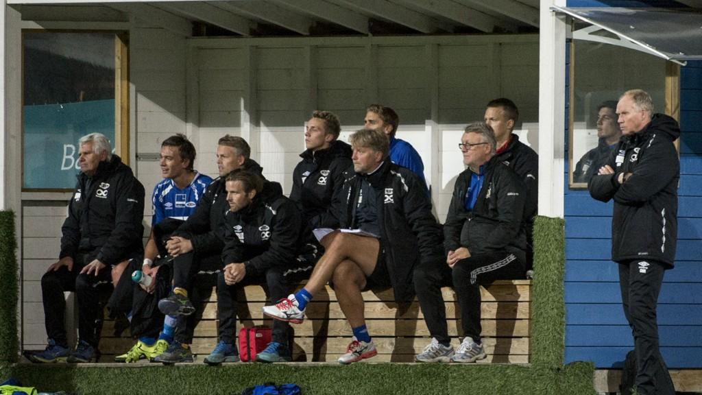 Ola By Riise (helt til høyre) og hans Ranheim jakter playoff til Tippeligaen. Foto: Ned Alley / NTB scanpix