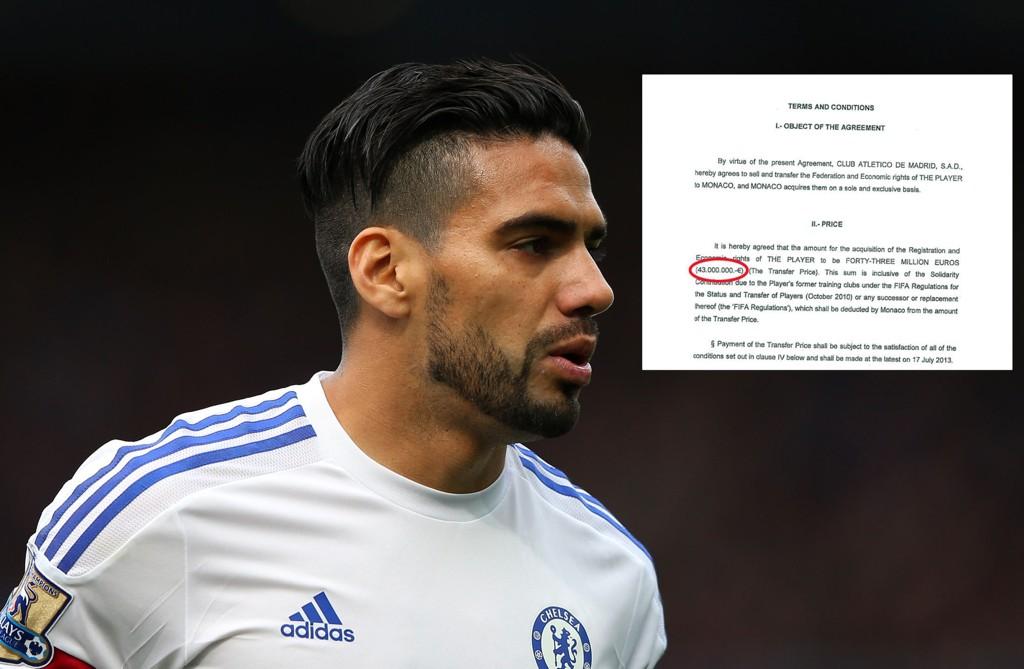 URIKTIG OPPLYST? Nåværende Chelsea-spiller Radamel Falcaos prislapp i 2013 kan vise seg å ha vært en annen enn mange antok.