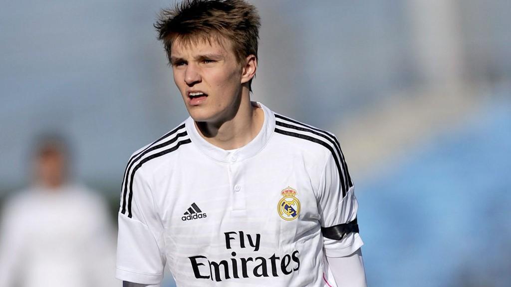 FIKK SPILLE: Martin Ødegaard fikk fornyet tillit fra start for Castilla, og 16-åringen spilte en meget god kamp.