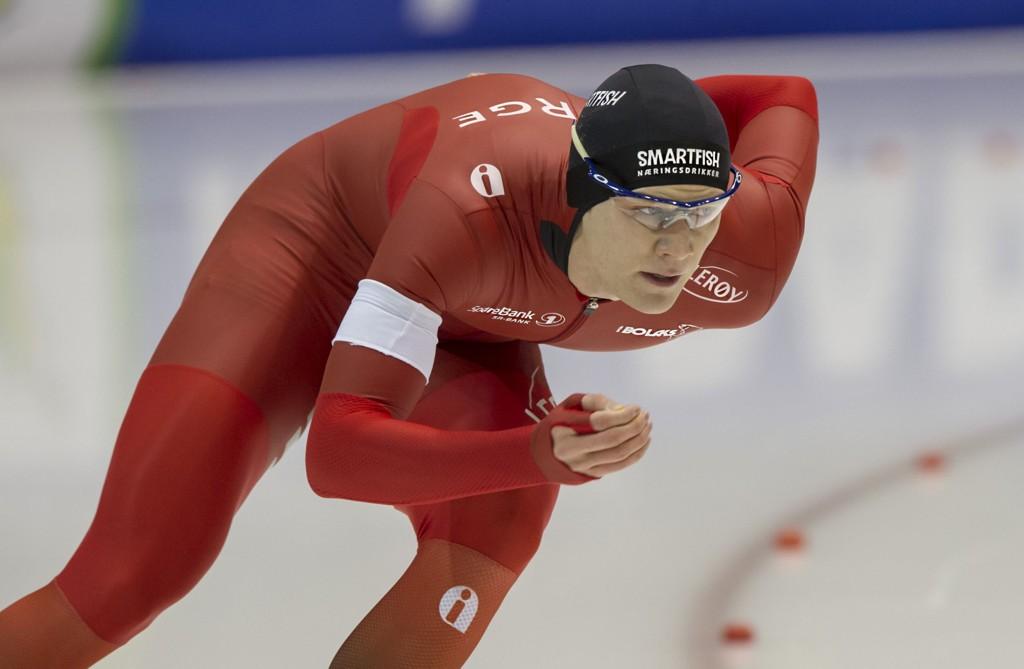KJAPPERE ENN NOEN GANG: Håvard Lorentzen var blant de norsk skøytesprinterne som satte ny personlig rekord i USA.