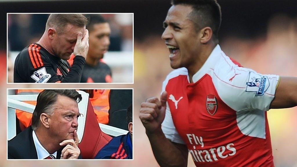LEKESTUE: Alexis Sanchez gjorde som han ville med stakkars United-spillere. Kaptein Wayne Rooney og manager Louis van Gaal fikk seg en leksjon de sent vil glemme.