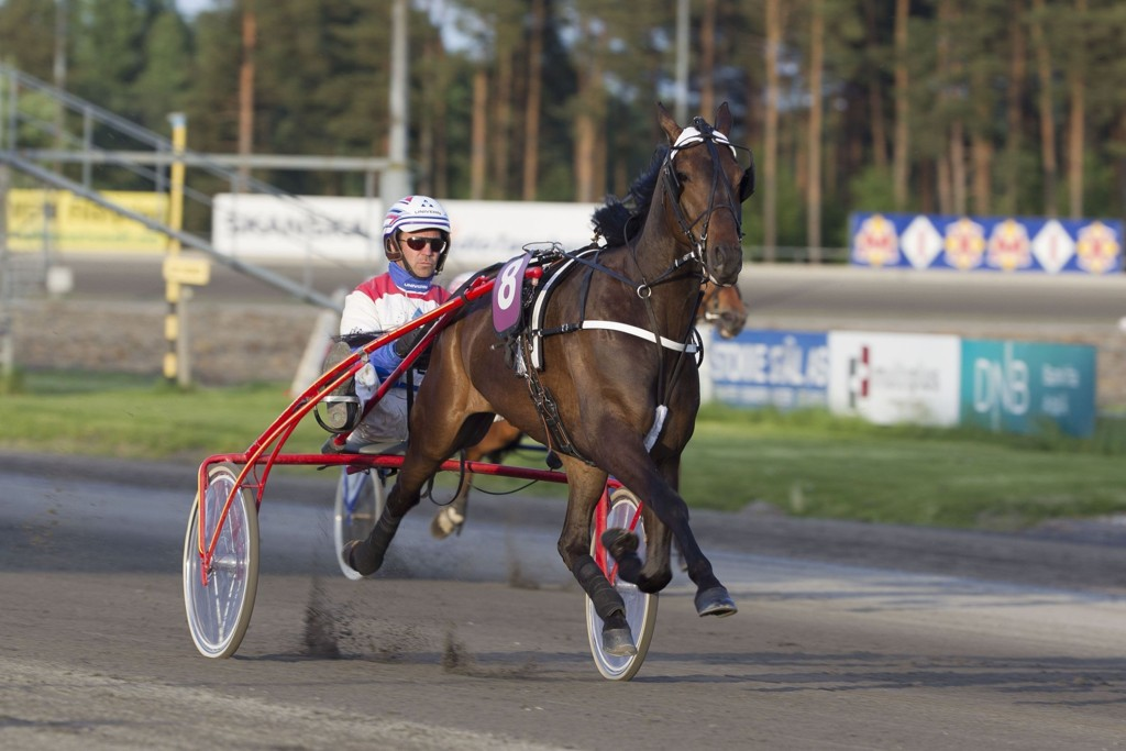 Lars Anvar Kolle har flere fine sjanser i dagens jackpotomgang. foto_Roger Svalsr¿d_hesteguiden.com