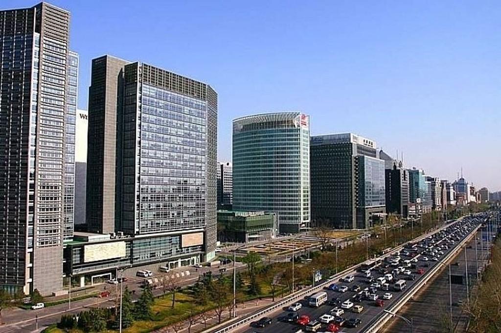 Illustrasjonsfoto: Deler av Beijings finansdistrikt.