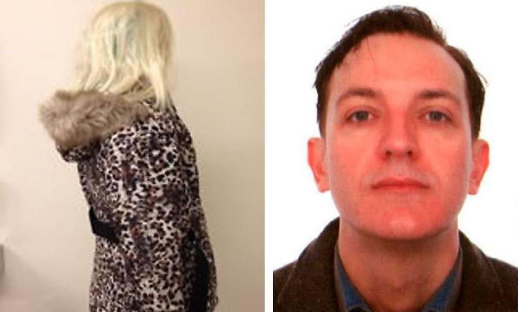 48 år gamle Gianluca Ros (bildet) er dømt til 18 års fengsel. Bildet til venstre viser hva slags kvinneklær og parykk tiltalte hadde på seg under drapet. Klærne ble funnet like ved åstedet etter drapet.