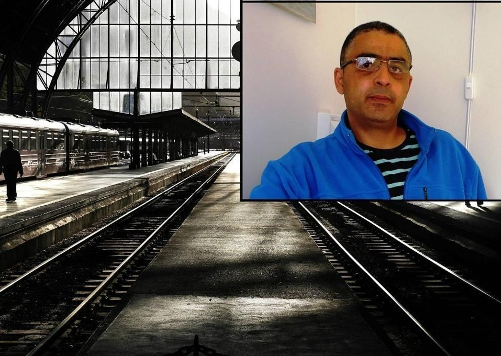 Seifeddine Selmi (innfelt) ble pågrepet på Jernbanestasjonen i Bergen i juli i fjor. Kameraten hadde på seg nær 300.000 kroner i kontanter.