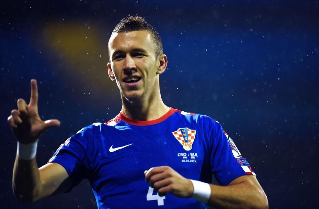 SCORET: Ivan Perisic er på gang for Kroatia og scoret mot Bulgaria i helgen.