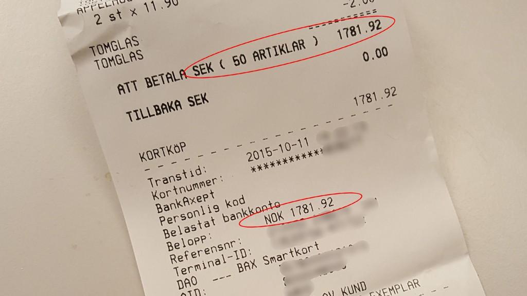 kurs svenske kroner