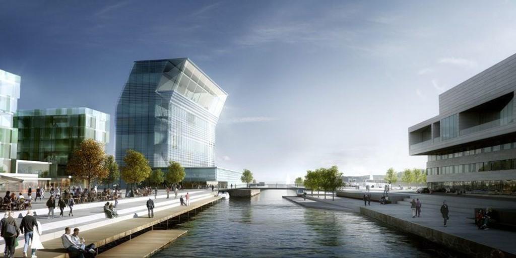 NYE MUNCH: Hvordan det nye Munch-museet til slutt blir seende ut, er ikke helt klart. Men her er arkitektens forslag.