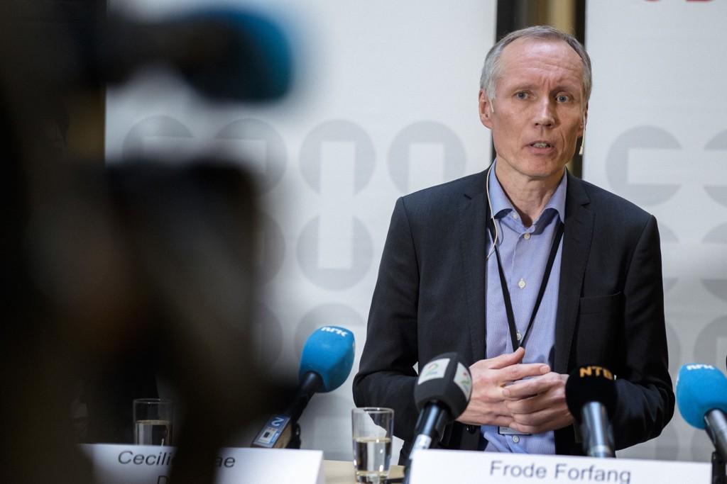 NYE TALL: UDI-direktør Frode Forfang (bildet) Helsedirektoratet-direktør Bjørn Guldvog og DSB-direktør Cecilie Daae hadde mandag ettermiddag felles pressekonferanse hvor de presenterer oppdaterte tall på antall asylsøkere.