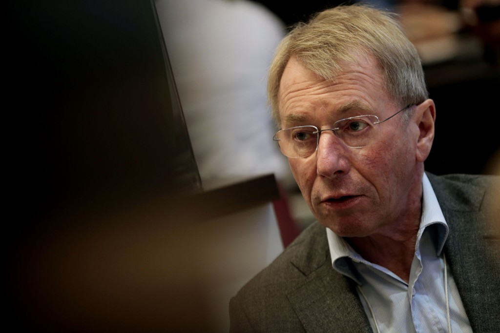 DAVOS, SVEITS 20140122. Norsk investor Jens Ulltveit-Moe under World Economic Forum i Davos, Sveits onsdag. Han er grunnlegger og konsernsjef i industriselskapet Umoe.