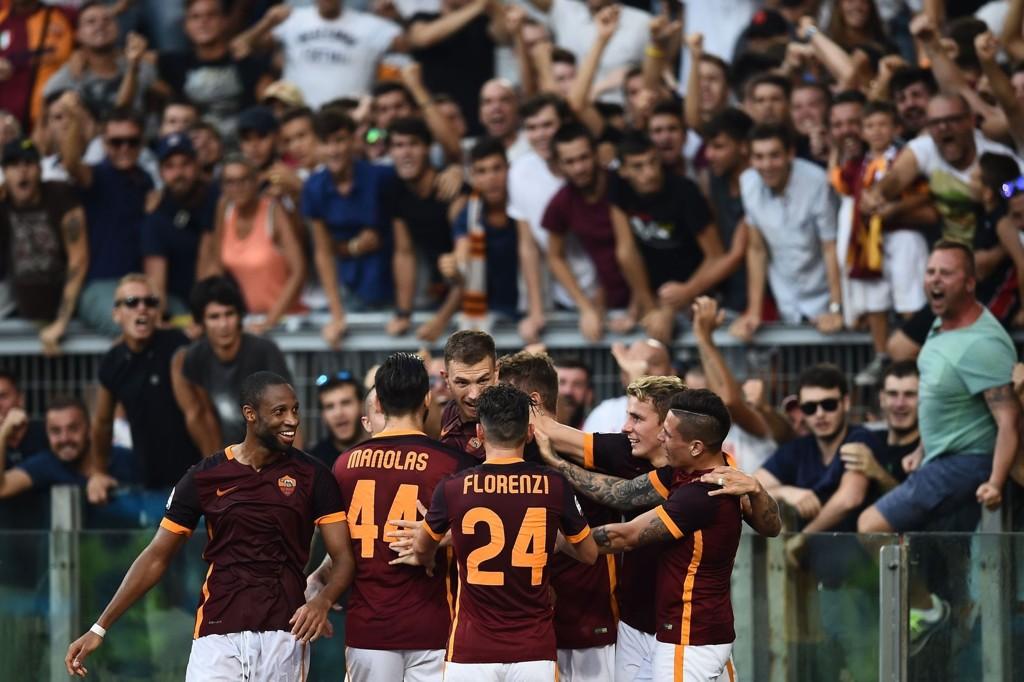 I FORM: Roma har hatt mye å feire de siste ukene. Her har de nettopp slått Juventus i sesonginnledningen.