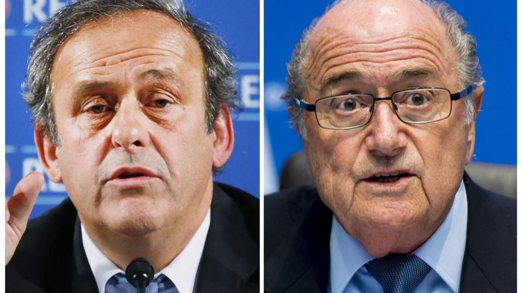 FIFA-president Sepp Blatters etterfølger blir klar 26. februar. Michel Platini (t.v) er under etterforskning, men er tidligere blitt utnevnt som favoritt til jobben.