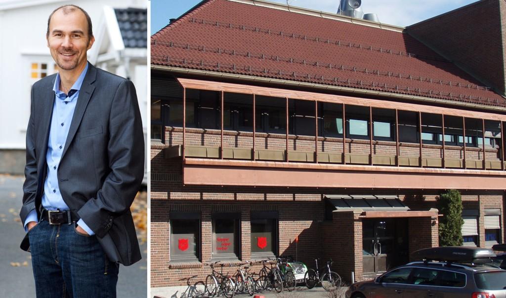 Administrerende direktør Tor Brekke i Hero har mottak over hele landet. Bildet viser motakksenteret i Kongsberg som disponerer 22 boliger med plass til 180 personer.