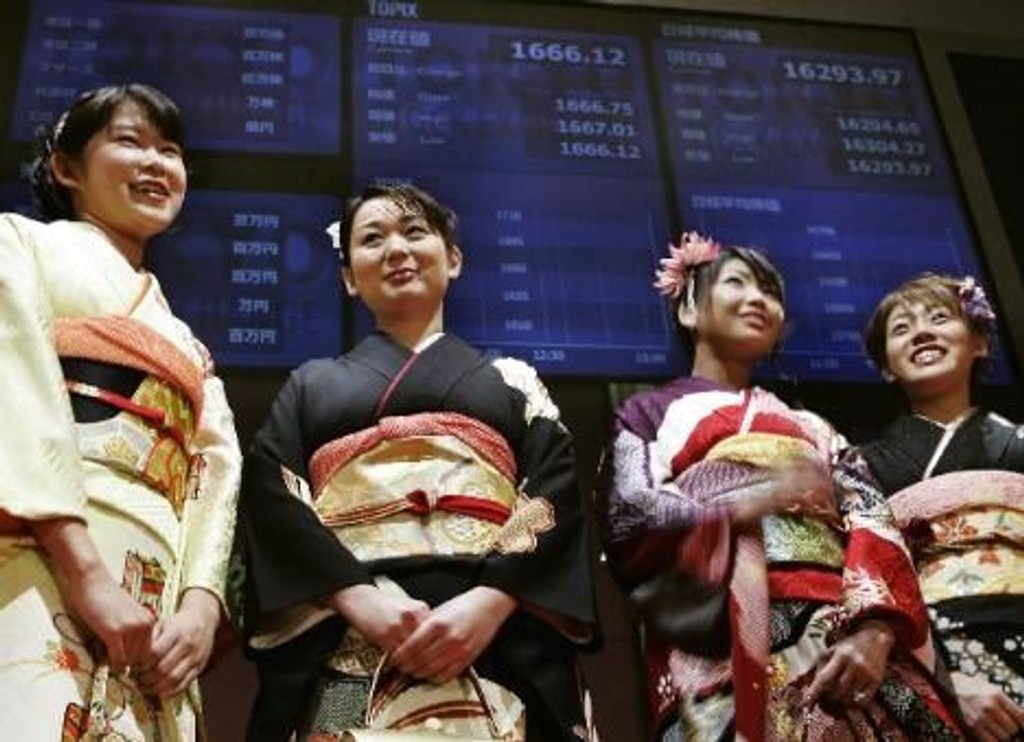 Asias børser i positivt terreng fredag 23.10.15. Illustrasjonsbilde: Børsen i Tokyo.