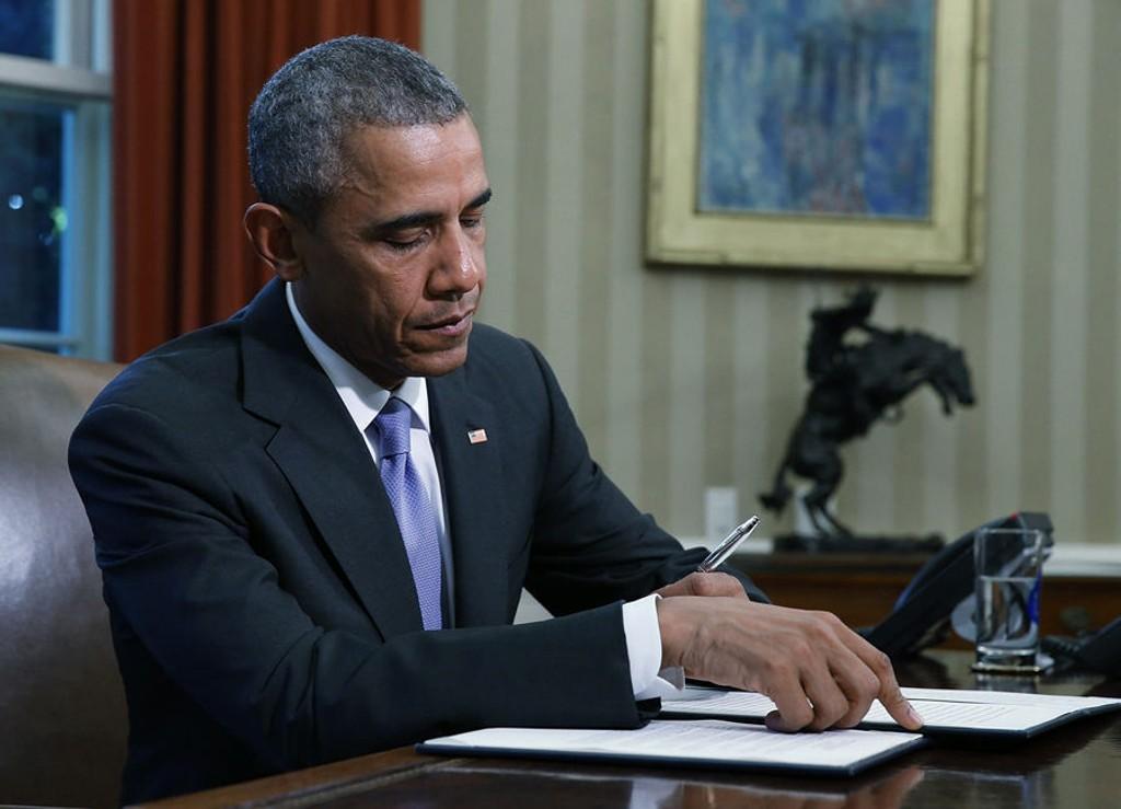 BRUKTE VETORETTEN: Barack Obama tok virkemiddelet i bruk for femte gang.