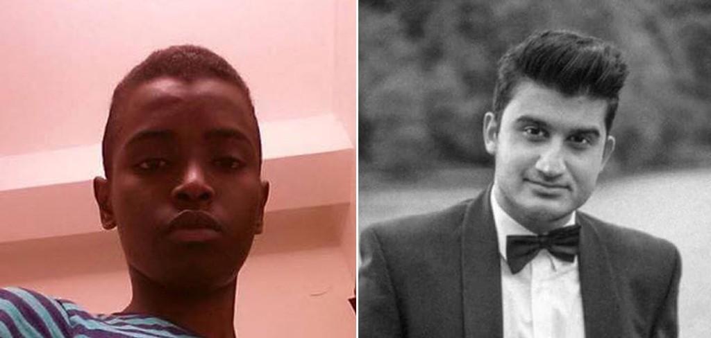 DREPT: Eleven Ahmed Hassan (t.v) og elevassistenen Levin Eskandar ble drept av Anton Lundin Petterson på Kronan skole i Trollhättan.
