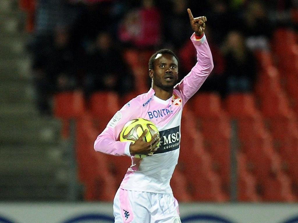 ILLUSTRASJONSFOTO: Dette bildet bruker vi for å illustrere Evian som feirer mål - en scene som sjelden ble fotografert mot slutten av fjorårets Ligue 1-sesong.