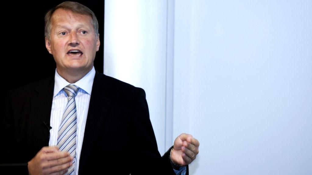 Meglerhuset Citi nedgraderer anbefalingen på DNB. Her DNB-sjef Rune Bjerke.